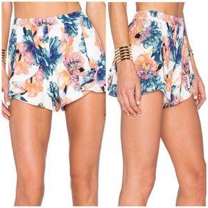 NBD Lazy Daze Colorful Floral Shorts EUC Size M